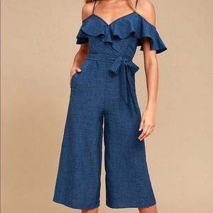 Lulus Chambray Jumpsuit